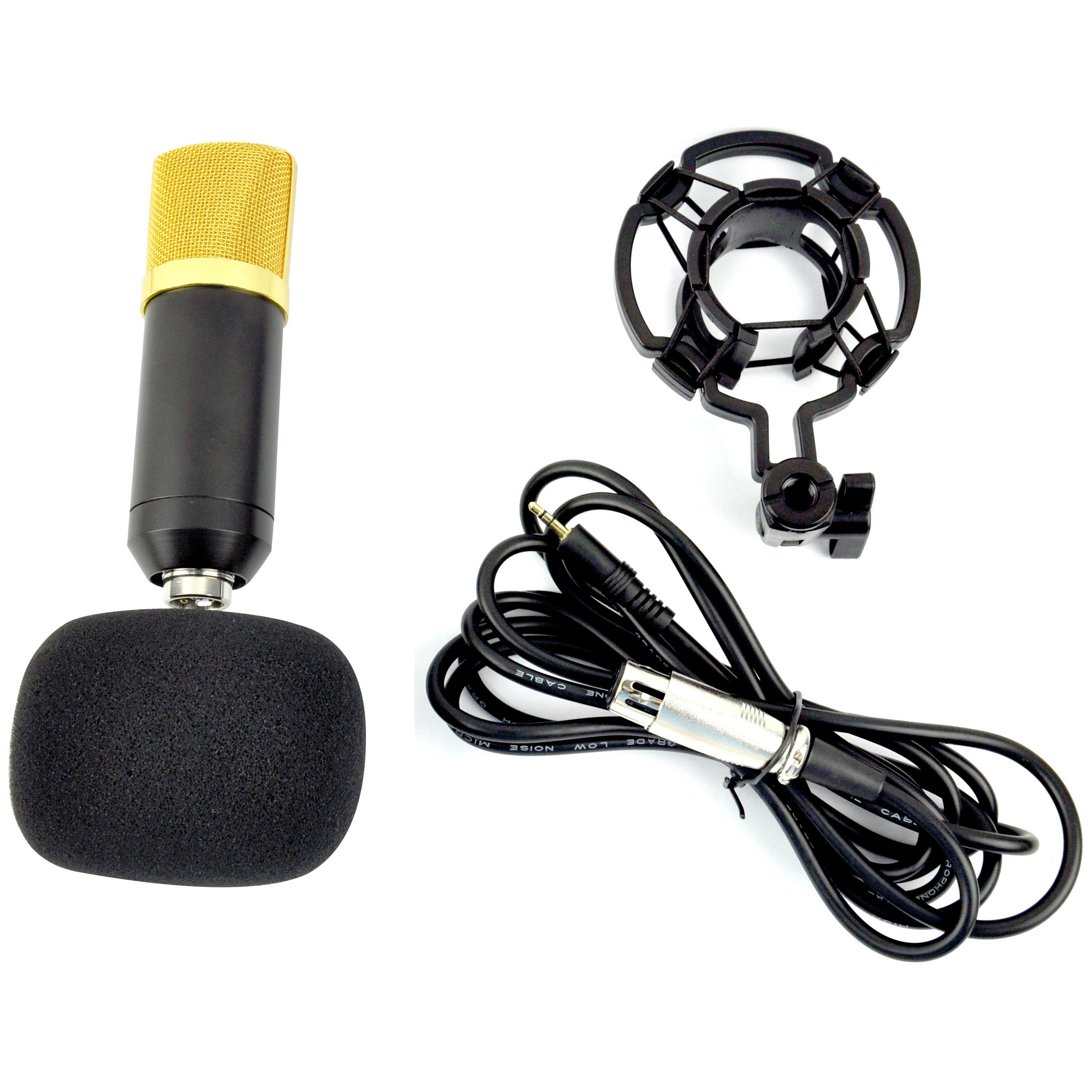 pro black condenser dynamic microphone mic sound studio recording shock mount 5055257526846 ebay. Black Bedroom Furniture Sets. Home Design Ideas